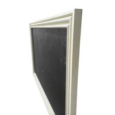 """Меловая доска в багетной деревянной рамке """"Бежевая"""" (фото, вид 1)"""