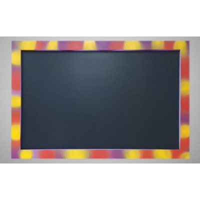 Магнитная меловая доска в цветной рамке № 2 (фото)