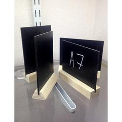 Магнитная-меловая доска на стену Ценники меловые на деревянной подставке