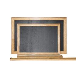 (Грифельная)- Магнитная меловая доска в рамке из натурального массива Дуба