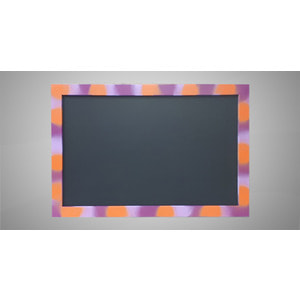 Меловая магнитная доска для рисования в цветной рамке